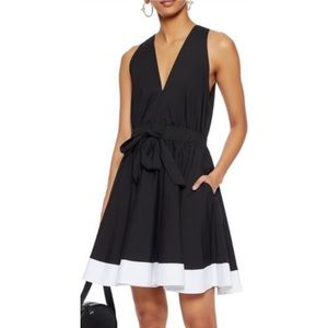 Milly Lola Poplin Fit and Flare Dress